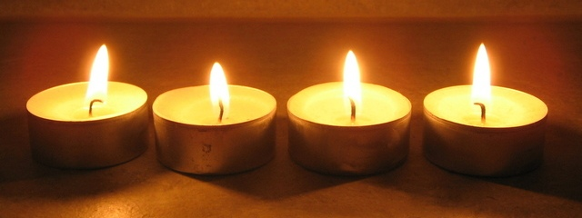 Four candles symbolise the guiding light of Meditations for Lent Table of Contents