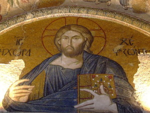 Mosaic of Jesus in Istanbul church - for contemplation on Ash Wednesday